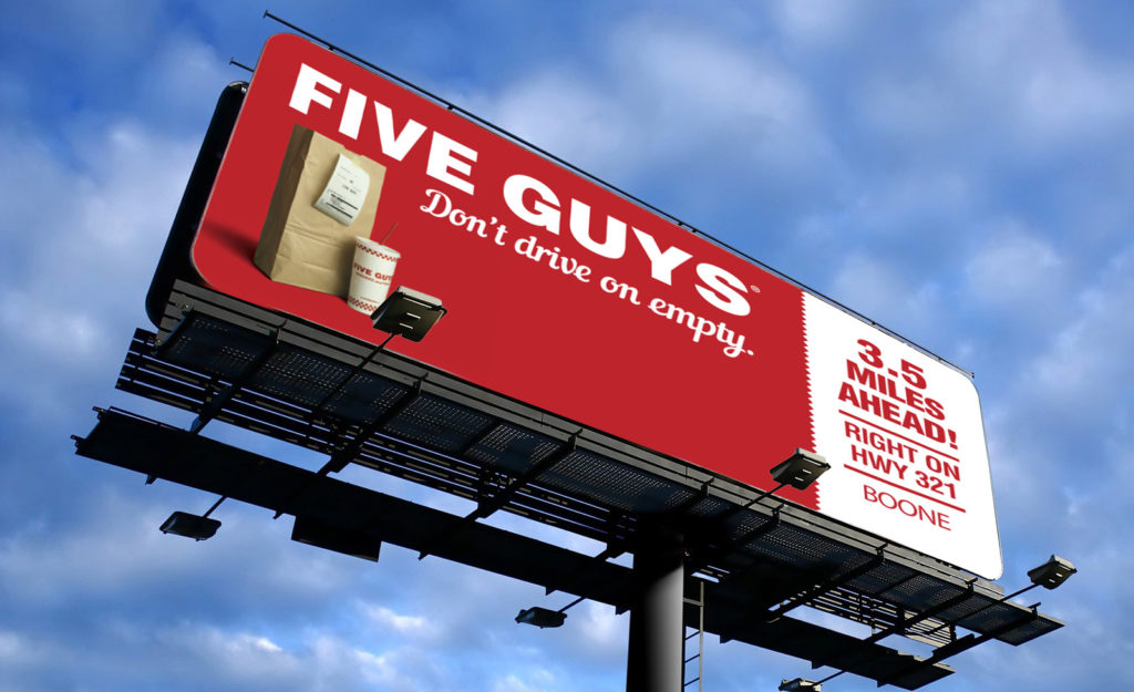 five guys billboards
