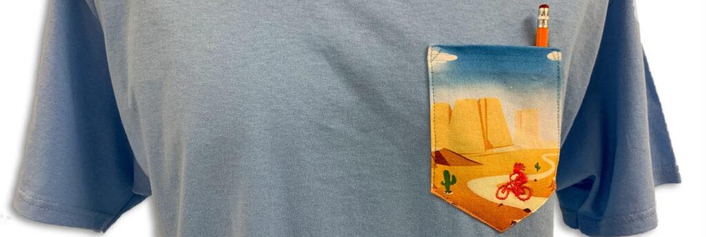 custom pocket tshirt